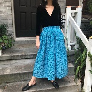 80s geometric skirt
